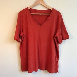 Eileen Fisher Short Sleeve Tee In Orange